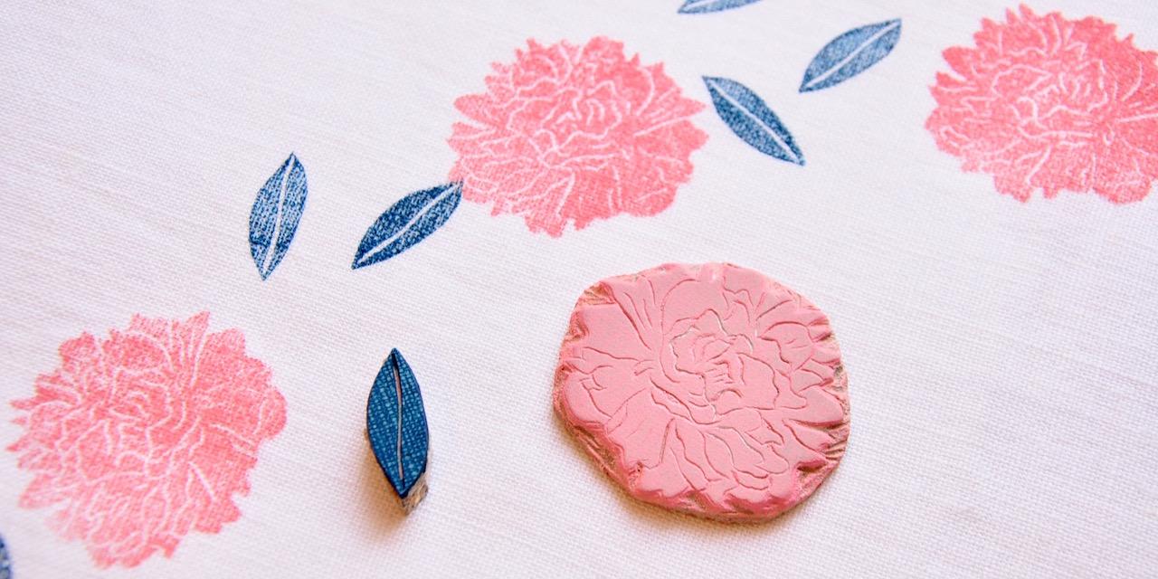 Collection Motif Penny Lover gravé à la main personnalisable pour tissu et papier peint par Inkrée