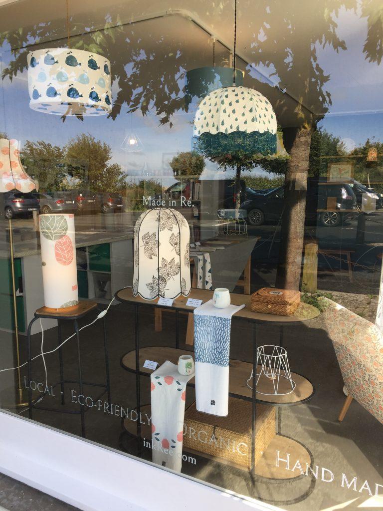 Boutique atelier inkrée sur saint martin de ré